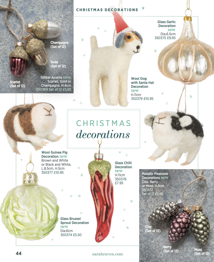 Sarah Raven, Christmas catalogue, 2019